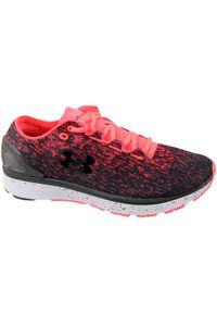 Czerwone buty do biegania Under Armour z cholewką, w kolorowe wzory