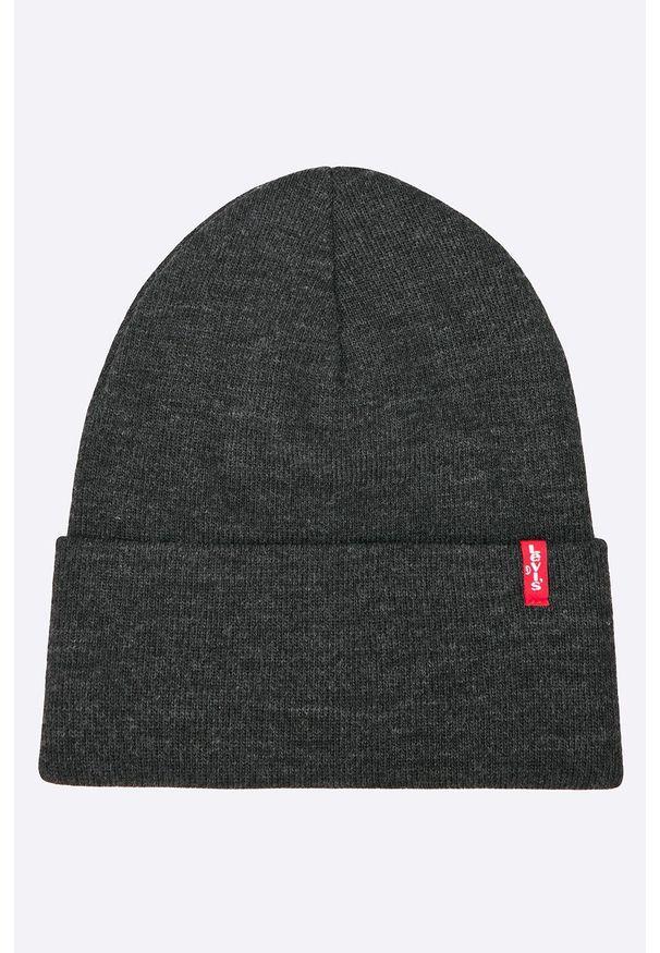 Szara czapka Levi's® biznesowa, w kolorowe wzory
