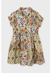 Wielokolorowa sukienka Mayoral z krótkim rękawem, rozkloszowana, mini