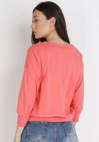 Born2be - Koralowa Bluzka Synisa. Kolor: pomarańczowy