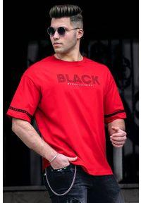 IVET - T-shirt męski MATIAS RED. Okazja: na co dzień. Kolor: czerwony. Wzór: nadruk. Styl: casual #1
