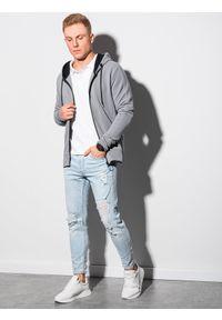 Szara bluza Ombre Clothing z kapturem #5