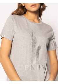 Szary t-shirt DKNY