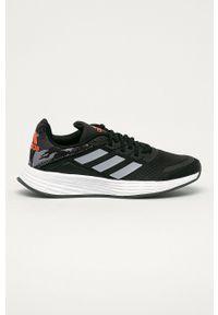 Czarne buty sportowe Adidas z cholewką, Adidas Cloudfoam, na sznurówki
