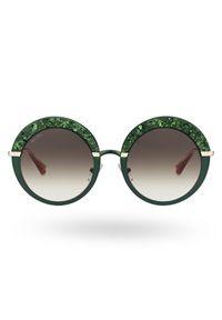 Zielone okulary przeciwsłoneczne Jimmy Choo