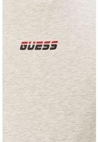 Szara koszulka z długim rękawem Guess z aplikacjami, na co dzień