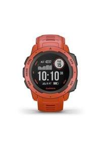 GARMIN - Garmin zegarek Instinct, czerwony. Kolor: czerwony. Materiał: włókno, materiał
