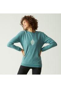 NYAMBA - Bluza fitness. Kolor: zielony. Materiał: materiał, bawełna, poliester, elastan. Sport: fitness