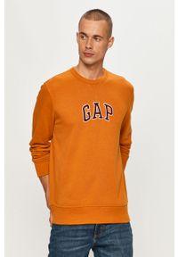 Pomarańczowa bluza nierozpinana GAP z okrągłym kołnierzem, z aplikacjami, na co dzień
