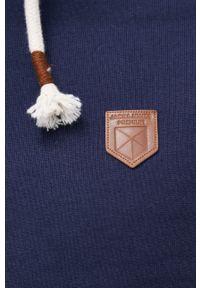 Premium by Jack&Jones - Bluza bawełniana. Okazja: na co dzień. Typ kołnierza: kaptur. Kolor: niebieski. Materiał: bawełna. Styl: casual