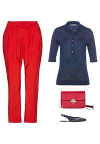 Niebieski sweter bonprix polo, krótki, z krótkim rękawem