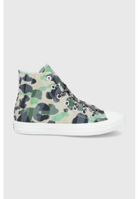 Converse - Trampki. Nosek buta: okrągły. Zapięcie: sznurówki. Kolor: zielony. Materiał: guma