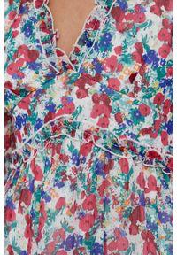 Vero Moda - Sukienka. Materiał: tkanina, poliester. Długość rękawa: długi rękaw. Typ sukienki: rozkloszowane