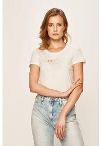 Only Play - T-shirt. Okazja: na co dzień. Kolor: biały. Materiał: dzianina, bawełna. Wzór: nadruk. Styl: casual #1