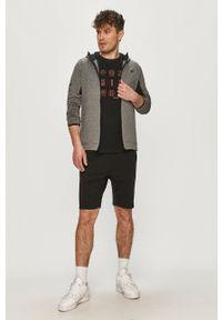 4f - 4F - T-shirt. Kolor: czarny. Wzór: nadruk