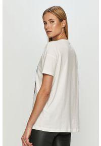 Biała bluzka only z nadrukiem, casualowa