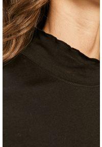 Czarna bluzka z długim rękawem Wrangler na co dzień, casualowa