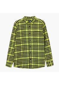Cropp - Koszula w kratę - Zielony. Kolor: zielony