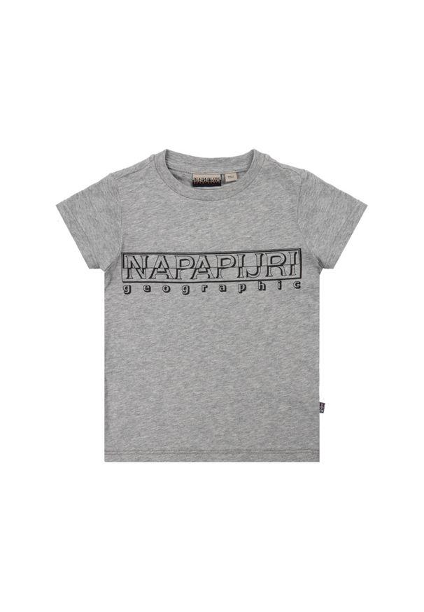 Szary t-shirt Napapijri