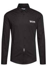 Czarna koszula biznesowa Versace Jeans Couture