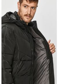 Czarna kurtka Tom Tailor Denim na co dzień, casualowa, z kapturem