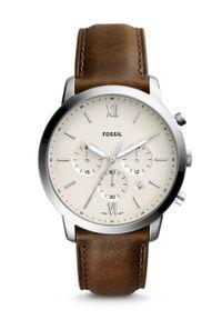 Fossil - Zegarek FS5380. Kolor: szary. Materiał: skóra, materiał