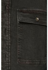 Marc O'Polo - Koszula jeansowa. Typ kołnierza: polo. Kolor: szary. Materiał: jeans. Długość rękawa: długi rękaw. Długość: długie. Styl: klasyczny
