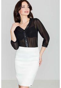 Czarna bluzka Katrus elegancka