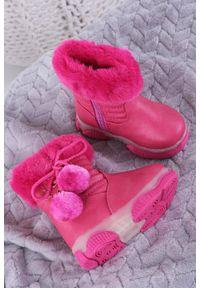 Różowe botki Casu