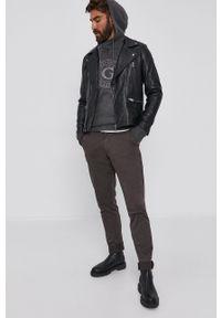 Trussardi Jeans - Trussardi - Spodnie. Kolor: szary
