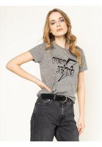 Pepe Jeans T-Shirt Clover PL504351 Szary Regular Fit. Kolor: szary