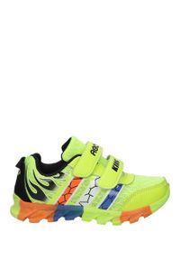 Casu - Seledynowe buty sportowe na rzepy casu 3-6003. Zapięcie: rzepy. Kolor: zielony