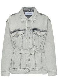 Calvin Klein Jeans Kurtka jeansowa J20J215389 Szary Oversize. Kolor: szary