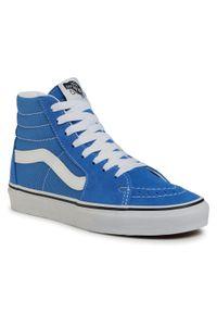 Niebieskie buty sportowe Vans Vans SK8, na co dzień, z cholewką