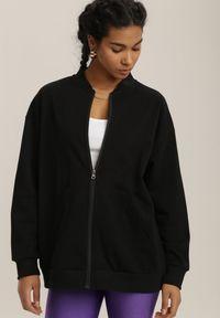 Renee - Czarna Bluza Nephelane. Kolor: czarny. Materiał: bawełna. Długość rękawa: długi rękaw. Długość: długie