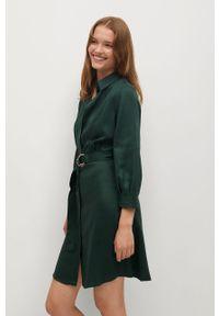 Zielona sukienka mango casualowa, prosta, mini, na co dzień