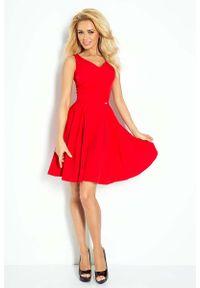 Czerwona sukienka Numoco na ramiączkach, elegancka