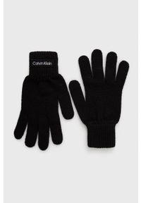Calvin Klein - Rękawiczki. Kolor: czarny