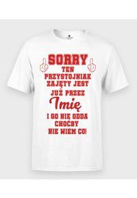 MegaKoszulki - Koszulka męska Przystojniak + imię 2. Materiał: bawełna