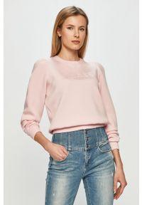 Różowa bluza Guess casualowa, na co dzień