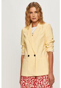Żółta marynarka Vero Moda na co dzień, klasyczna