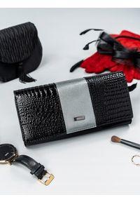 Szary portfel 4U CAVALDI w kolorowe wzory