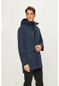 Niebieska kurtka PRODUKT by Jack & Jones na co dzień, casualowa, z kapturem