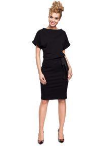 Czarna sukienka dresowa MOE