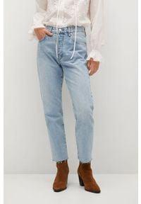 Proste jeansy mango z podwyższonym stanem