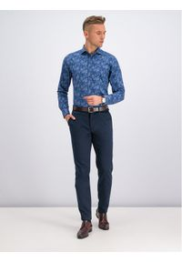 Niebieska koszula casual Digel