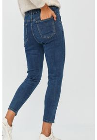 Niebieskie jeansy Answear Lab z podwyższonym stanem, wakacyjne, w kolorowe wzory