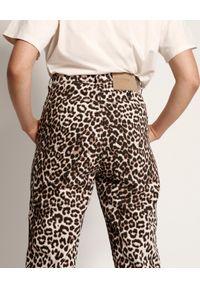 ONETEASPOON - Jeansy Animal Streetwalkers. Okazja: na co dzień. Stan: podwyższony. Kolor: brązowy. Wzór: motyw zwierzęcy, aplikacja. Sezon: lato. Styl: vintage, casual