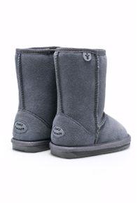 Szare buty zimowe EMU Australia z okrągłym noskiem, na zimę