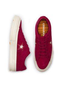 Czerwone półbuty casual Converse z cholewką